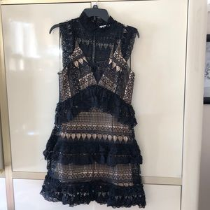 Gab and Kate High Neck Lace Dress